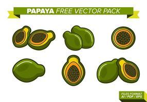 Papaya frei Vektor Packung