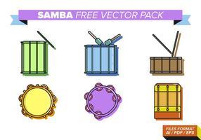 Samba gratis vektorpaket