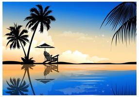 Schöne Palmen Sommer Vektor Hintergrund