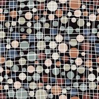 abstrakter gedämpfter Kreis und Linien