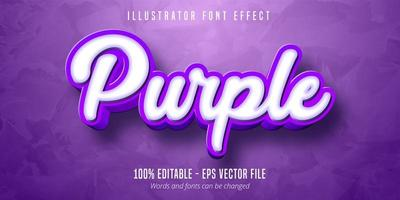 3D lila bearbeitbarer Texteffekt vektor