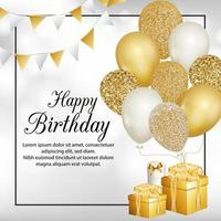 Alles Gute zum Geburtstag Flyer vektor