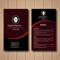 rote Restaurantkarte vektor