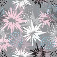 Pastellblumen abstraktes Muster