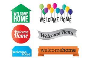 Willkommen Home Vector
