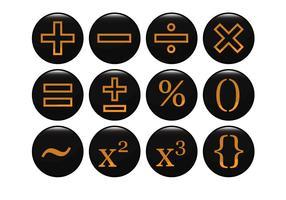 Free Mathematical Black Icon Vektor