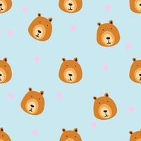 handritad björnhuvudmönster