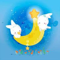 Kaninchen und der Mond