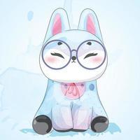 Kaninchen mit Brille