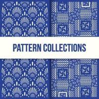 nahtlose Muster zweitürige Designkollektion