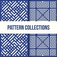 nahtlose quadratische Box Illusionsmuster Sammlung