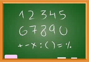 Freie Hand gezeichnete Mathe Vektor