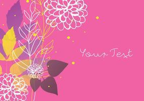 Dekorativ blom färgrik bakgrundsdesign vektor