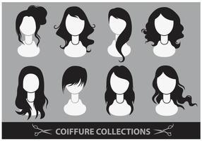 Coiffure-samlingsvektorer
