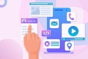mobil applikationsutveckling app konstruktör vektor