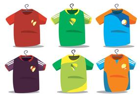 Futsal jersey vektor set