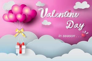 Papierkunst Valentinstag Ballon Design