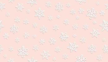 sömlös rosa snöbakgrund. vektor