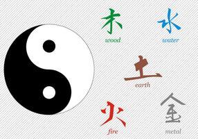 Kostenlose Tai Chi Zeichen Vektor