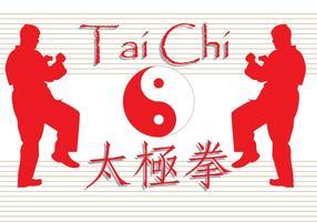 Free Tai Chi geschriebenen Vektor