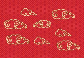 Gratis kinesisk molnvektor vektor