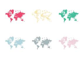 Gratis världskarta vektor illustration