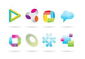 Vetenskap och Tech Logo Vektorer