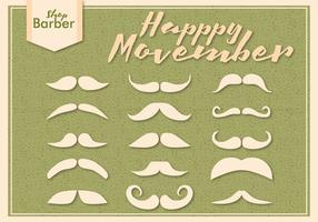 Movember mustasch säsong vektorer