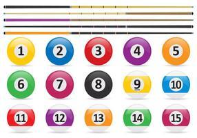 Poolbollar och stickvektorer vektor