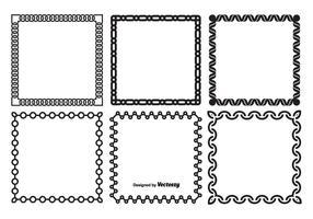 Dekorative Vektor Rahmen Set