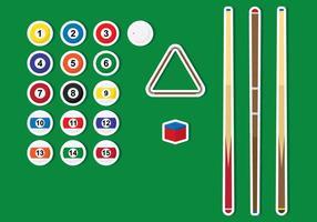 Pools Sticks und Ball Vektoren