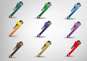 Schraubenschlüssel Vektor Set