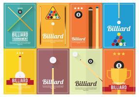 Billard Poster Vektoren