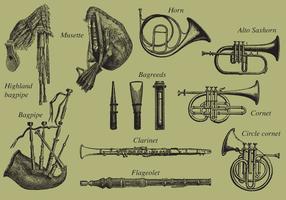Blasinstrumente vektor