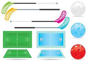 Vector Floorball Court und Gegenstände
