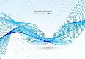 Blaue Welle auf punktierten Hintergrund vektor