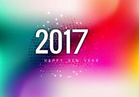 Vackert gott nytt år 2017 kort