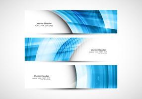 Blue Wave auf Header für Website vektor