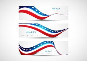 4. Juli Amerikanische Unabhängigkeitstag Flagge vektor