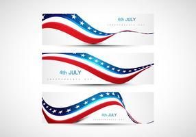 4 juli amerikanska självständighetsdagen flagga vektor
