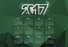 Kalender von 2017 mit Monaten und Datum