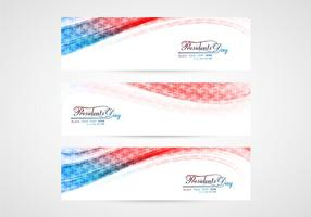 Set of Presidents Day Banners vektor
