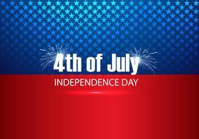 4 juli text på amerikansk flagga vektor