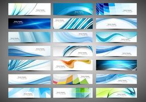 Verschiedene Art von Business Banner vektor