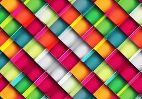 Färgglatt fyrkantigt mönster