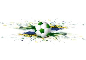 Fußball mit buntem Aquarell vektor