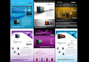 Mobiltelefon webbplats vektor