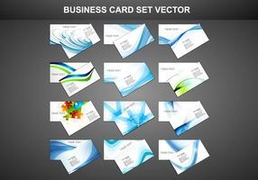 Set Visitenkarte vektor
