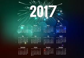 År 2017 Kalender vektor
