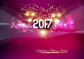 Glühende Neujahrskarte 2017 vektor